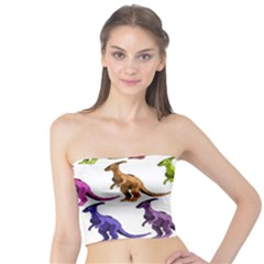 Multicolor Dinosaur Background Tube Top