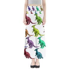 Multicolor Dinosaur Background Maxi Skirts