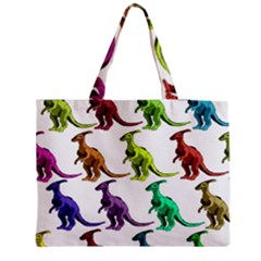 Multicolor Dinosaur Background Medium Tote Bag