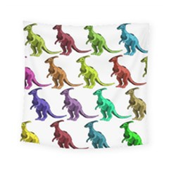 Multicolor Dinosaur Background Square Tapestry (small)