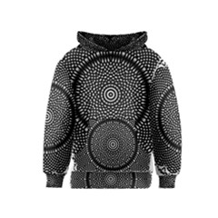 Black Lace Kaleidoscope On White Kids  Pullover Hoodie