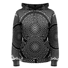 Black Lace Kaleidoscope On White Women s Pullover Hoodie