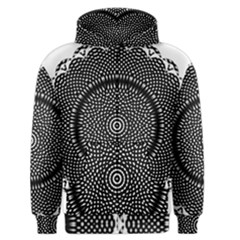Black Lace Kaleidoscope On White Men s Zipper Hoodie