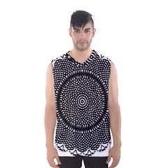 Black Lace Kaleidoscope On White Men s Basketball Tank Top