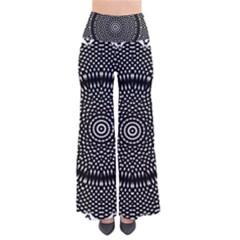 Black Lace Kaleidoscope On White Pants