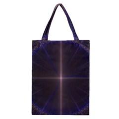 Color Fractal Symmetric Blue Circle Classic Tote Bag