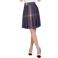 Color Fractal Symmetric Blue Circle A-Line Skirt