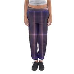 Color Fractal Symmetric Blue Circle Women s Jogger Sweatpants