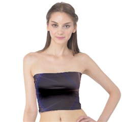 Color Fractal Symmetric Blue Circle Tube Top