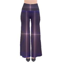 Color Fractal Symmetric Blue Circle Pants