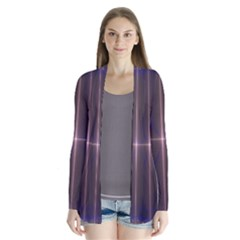 Color Fractal Symmetric Blue Circle Cardigans