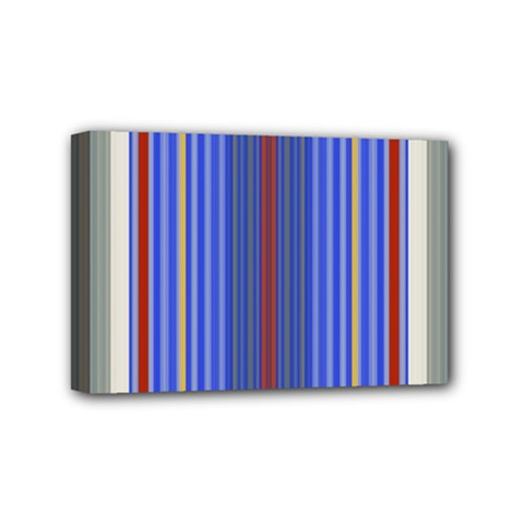 Colorful Stripes Background Mini Canvas 6  x 4