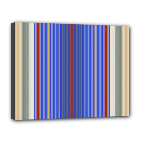 Colorful Stripes Background Canvas 14  X 11