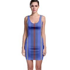 Colorful Stripes Background Sleeveless Bodycon Dress