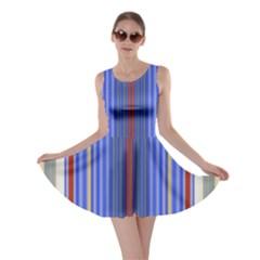 Colorful Stripes Background Skater Dress