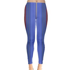 Colorful Stripes Background Leggings