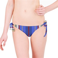 Colorful Stripes Background Bikini Bottom