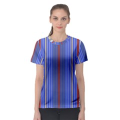 Colorful Stripes Background Women s Sport Mesh Tee