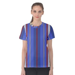 Colorful Stripes Background Women s Cotton Tee
