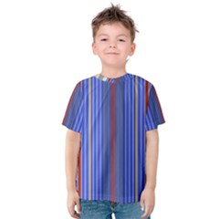 Colorful Stripes Background Kids  Cotton Tee