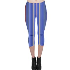 Colorful Stripes Background Capri Leggings