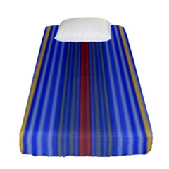 Colorful Stripes Background Fitted Sheet (single Size)