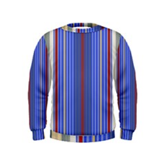 Colorful Stripes Background Kids  Sweatshirt