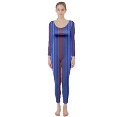 Colorful Stripes Background Long Sleeve Catsuit