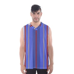 Colorful Stripes Background Men s Basketball Tank Top