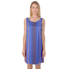 Colorful Stripes Background Sleeveless Satin Nightdress