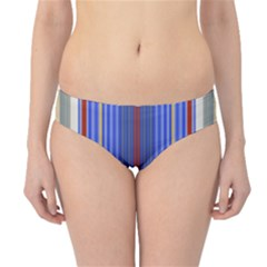 Colorful Stripes Background Hipster Bikini Bottoms