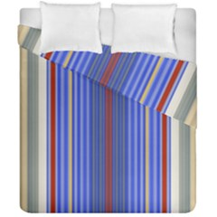 Colorful Stripes Background Duvet Cover Double Side (california King Size)