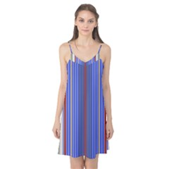 Colorful Stripes Background Camis Nightgown