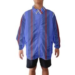Colorful Stripes Background Wind Breaker (kids)