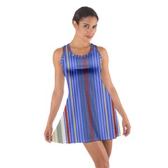 Colorful Stripes Background Cotton Racerback Dress