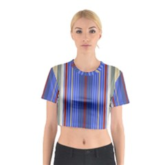 Colorful Stripes Background Cotton Crop Top