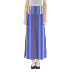 Colorful Stripes Background Maxi Skirts