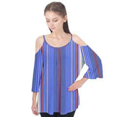 Colorful Stripes Background Flutter Tees