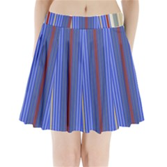 Colorful Stripes Background Pleated Mini Skirt