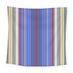 Colorful Stripes Background Square Tapestry (large)