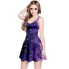 Blue Digital Fractal Reversible Sleeveless Dress