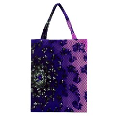 Blue Digital Fractal Classic Tote Bag