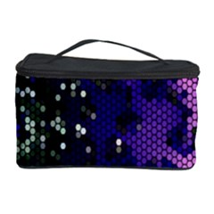 Blue Digital Fractal Cosmetic Storage Case