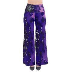 Blue Digital Fractal Pants