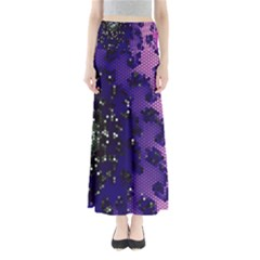 Blue Digital Fractal Maxi Skirts