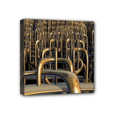 Fractal Image Of Copper Pipes Mini Canvas 4  x 4