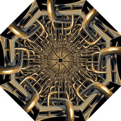 Fractal Image Of Copper Pipes Straight Umbrellas
