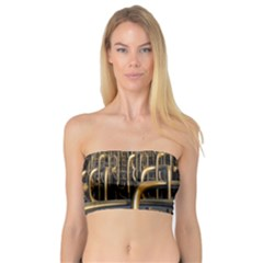 Fractal Image Of Copper Pipes Bandeau Top