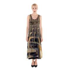 Fractal Image Of Copper Pipes Sleeveless Maxi Dress