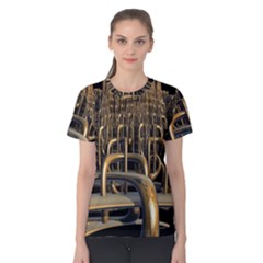 Fractal Image Of Copper Pipes Women s Cotton Tee